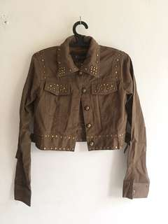 Studded Cropped Jacket