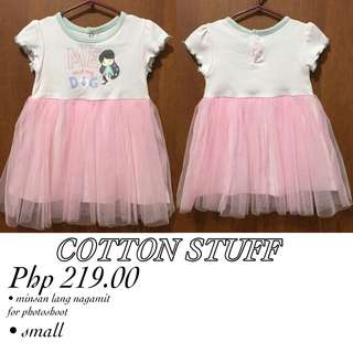 Cotton stuff dress for baby girl
