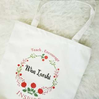 Personalised Teacher's Day Gift - Canvas Tote Bag