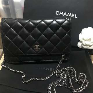Hold* 100% Real 90% New Chanel WOC 銀鏈