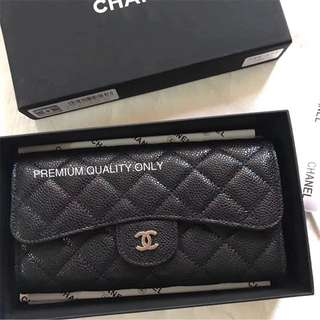 Chanel classic flap Wallet - black