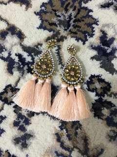 Peach Tassel Earrings