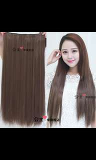 (No instock!)'Preorder'Korean clip on straight hair extension * waiting time 15 days after payment is made *chat to buy to order