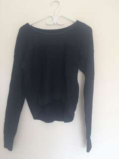 American eagle navy blue/ black sweater