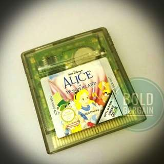 Authentic Alice in Wonderland Game Cartridge for Nintendo Gameboy Color