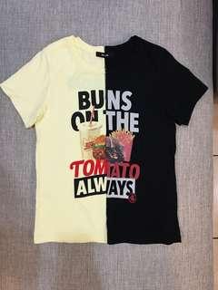 🚚 (黃)美式速食短袖T恤