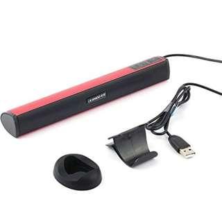370. Tekit Ikanoo Portable USB Powered Audio Speakers Amplifier Earphone Jack,Portable Laptop/Computer/PC Speaker Subwoofer USB Soundbar Sound Bar Stick Music Player Speakers For PC Tablet Laptop (Red)
