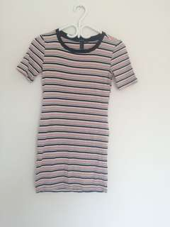 Forever 21 strip tee shirt/t-shirt dress
