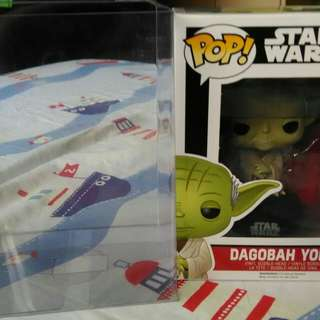 Funko Pop! Star wars: Dagobah Yoda #124 Vinyl Bobble-Head Figure ( Bundled with Pop BOX PROTECTOR CASE )