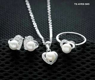 Genuine 925 Italy silver set for ladies