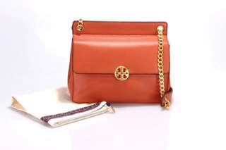 Tory Burch Chelsea Flap Shoulder Bag - orange