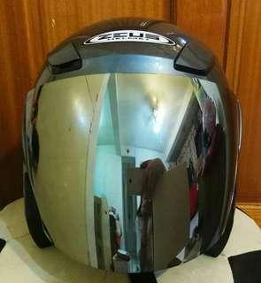 Zeus 安全帽 GJ3000 電鍍鏡片