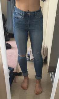 Abercrombie & Fitch High-waisted Skinny Jeans