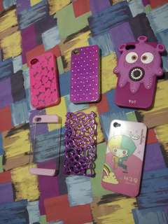 Iphone 4/4s cute cases (6pcs)