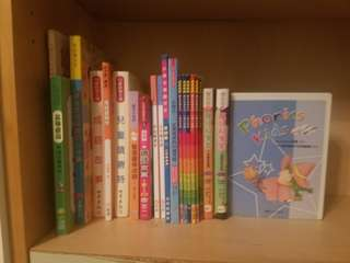 中文圖書20本 + Phonics Kids VCD 5 隻 適合小學生