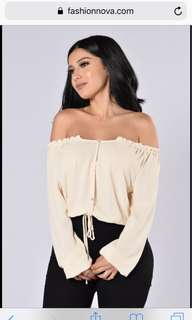 Off shoulder top Fashionnova