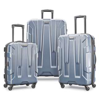 """Samsonite Centric 3 Piece Hardside 20"""" 24"""" 28""""Luggage Suitcase Set Blue Slate Only 20 Inch Cabin Size Carry On 24 Inch 28 Inch Business Travel 4 Wheel Wheeled Suitcase Luggage Set"""
