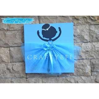 Lukisan Siluet Ballerina 3D (1 Pcs) 30X30 Cm BLUE