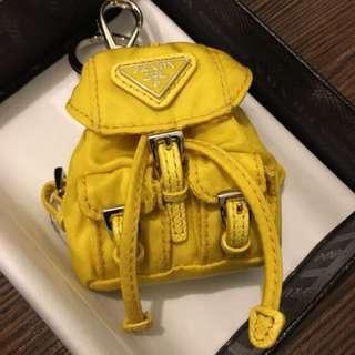Prada Yellow Backpack Keychain (Limited) 普拉達限量黃色鎖鑰扣