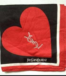 YSL scarf, twilly, handkerchief with diamonte wording