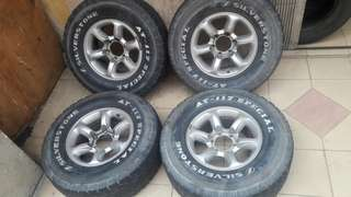 4x4 rim 16x7.5jj tayar at 275/70/16