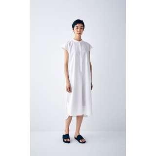 🚚 MUJI無印良品 MUJI LABO女100%棉法式袖洋裝