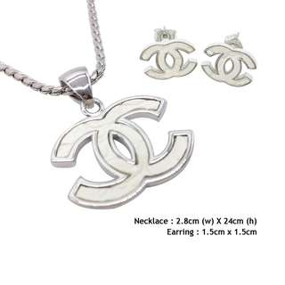 Plating Platinum Necklace & Earring 100% Make in Korea Design A