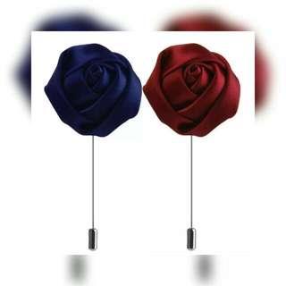 Polyester Flower Lapel Pin