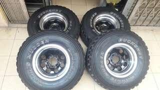 4x4 rim 15x10jj offset-48 tayar mt 33x12.5x15