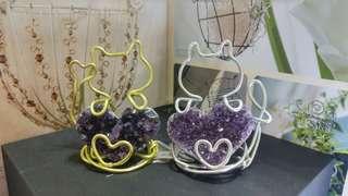 心形紫水晶簇
