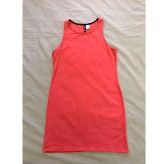 H&M Coral Pink Bodycon Dress #Ramadan50
