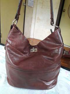 VENEZIA BORSE IN PELLE Made in Italy Genuine Leather Hobo Brown Bag