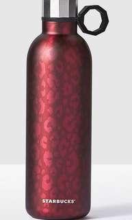 Starbucks Tumbler Magenta Leopard Stainless Steel Water Bottle, 20fl oz