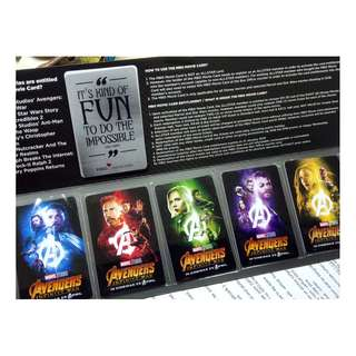 Avengers Infinity War Limited Collectible Cards