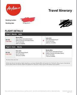 ✨ROUNDTRIP 2 PLANE TICKETS (Male) TO/FROM MANILA-ILOILo✨3K nalang!!!
