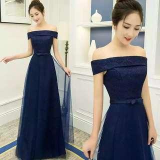 Off Shoulder Dinner Dress Gown