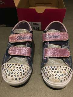 Sketcher's bling bling little girl's sneakers
