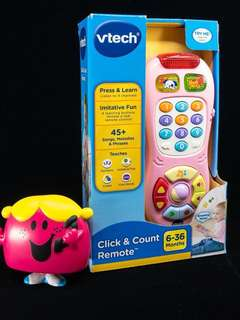 ~Ready Stocked~ VTech Click & Count Remote Pink