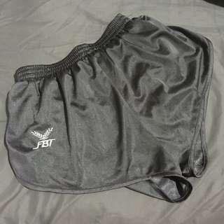 Fbt grey curve cut shorts