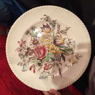 Vintage Plate Johnson Bros England Garden Bouquet