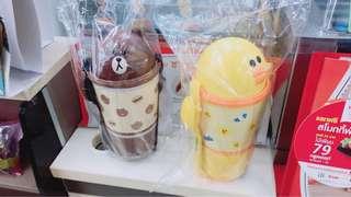 Line friend 泰國7-11 熊大 莎利 三層餐盒