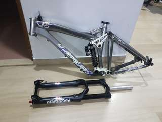 polygon free ride frame + fork