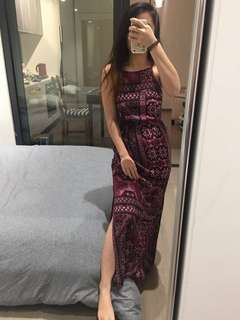 Clover high neck maxi dress