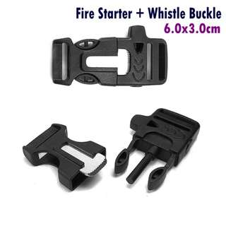 Fire Starter Whistle Buckle for Paracord Bracelet Survival Outdoor