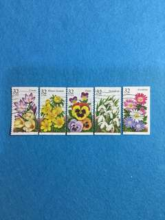 1996 USA Garden Flowers Issue 5V Complete Set Used