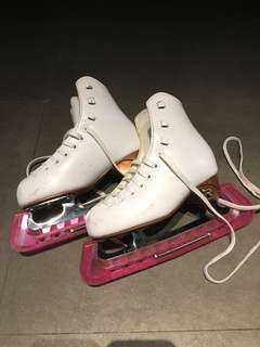 Little girl's ice skates
