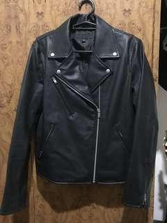 Preloved Uniqlo Leather Jacket