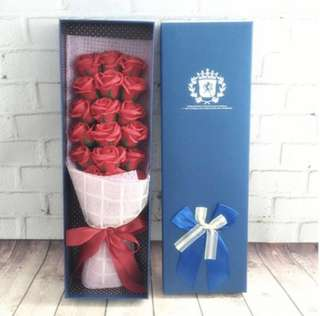 Romantic Rose Soap Bouquet in Red #ramadan50