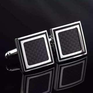 Carbon Fibre Square Cufflinks