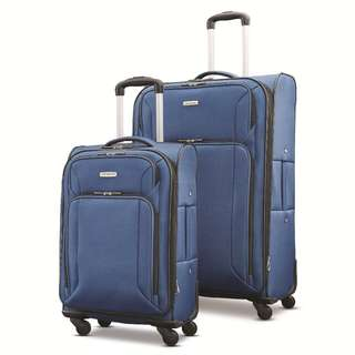 """Samsonite Victory 2 Piece Nested Softside Set 21"""" 29"""" 21 Inch 29 Inch EXPANDABLE Suitcase 4 Wheeled Wheel Suitcase Luggage Business Travel Bag Navy Blue Only"""